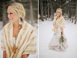 fur wrap wedding