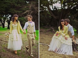 wedding dress with a cardy